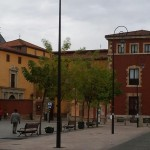 A small plaza in the city of Leon